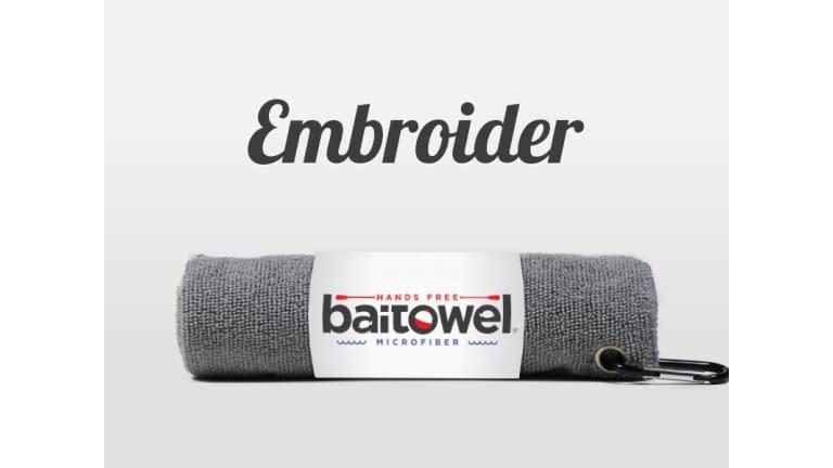 Baitowel Microfiber Fishing Towel - BT-GRAY